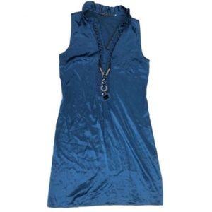 Elie Tahari 2 XS Silk Necklace Stretch Shirt Dress